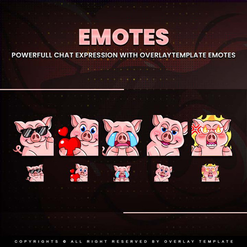 emotes,preview1,pig,overlaytemplate.com