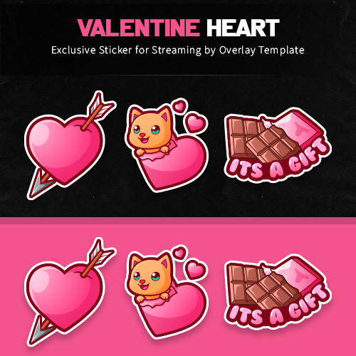 sticker,preview,valentine heart,overlaytemplate.com